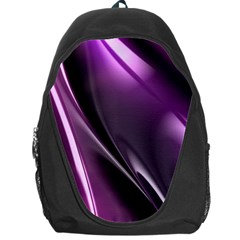 Purple Fractal Mathematics Abstract Backpack Bag