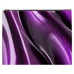 Purple Fractal Mathematics Abstract Cosmetic Bag (xxxl)