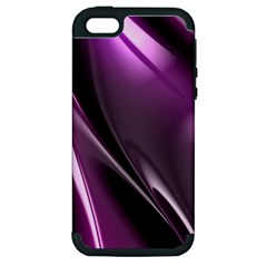 Purple Fractal Mathematics Abstract Apple Iphone 5 Hardshell Case (pc+silicone)