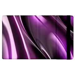 Purple Fractal Mathematics Abstract Apple Ipad 2 Flip Case