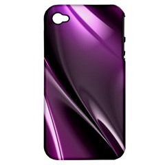 Purple Fractal Mathematics Abstract Apple Iphone 4/4s Hardshell Case (pc+silicone)