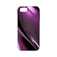 Purple Fractal Mathematics Abstract Apple Iphone 5 Classic Hardshell Case (pc+silicone)