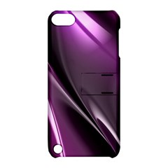 Purple Fractal Mathematics Abstract Apple Ipod Touch 5 Hardshell Case With Stand