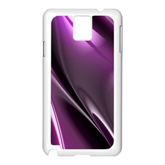 Purple Fractal Mathematics Abstract Samsung Galaxy Note 3 N9005 Case (white)