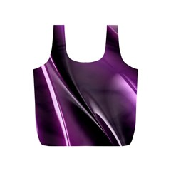 Purple Fractal Mathematics Abstract Full Print Recycle Bags (s)