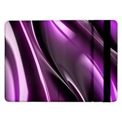 Purple Fractal Mathematics Abstract Samsung Galaxy Tab Pro 12 2  Flip Case