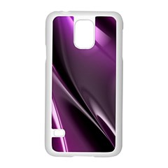 Purple Fractal Mathematics Abstract Samsung Galaxy S5 Case (white)