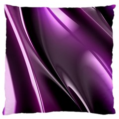Purple Fractal Mathematics Abstract Large Flano Cushion Case (one Side)