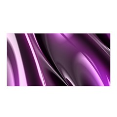 Purple Fractal Mathematics Abstract Satin Wrap