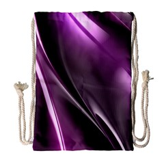 Purple Fractal Mathematics Abstract Drawstring Bag (large)