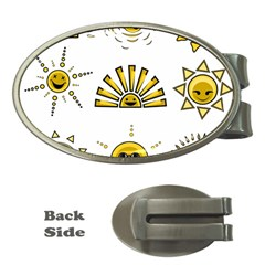 Sun Expression Smile Face Yellow Money Clips (oval)
