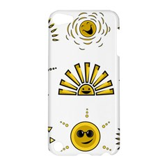 Sun Expression Smile Face Yellow Apple Ipod Touch 5 Hardshell Case