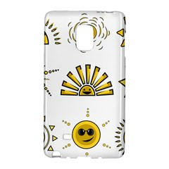 Sun Expression Smile Face Yellow Galaxy Note Edge
