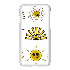 Sun Expression Smile Face Yellow Apple Iphone 7 Seamless Case (white)