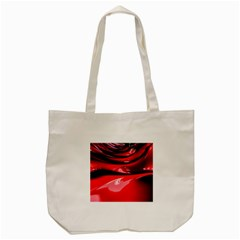 Red Fractal Mathematics Abstract Tote Bag (cream)