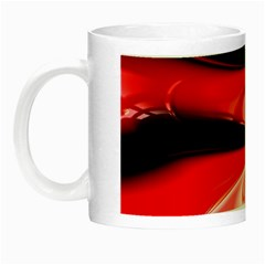 Red Fractal Mathematics Abstract Night Luminous Mugs