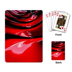 Red Fractal Mathematics Abstract Playing Card