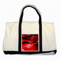Red Fractal Mathematics Abstract Two Tone Tote Bag