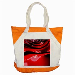 Red Fractal Mathematics Abstract Accent Tote Bag