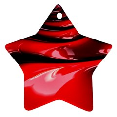 Red Fractal Mathematics Abstract Star Ornament (two Sides)