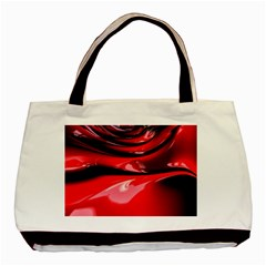 Red Fractal Mathematics Abstract Basic Tote Bag (two Sides)
