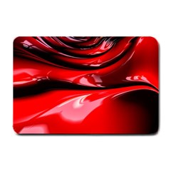 Red Fractal Mathematics Abstract Small Doormat