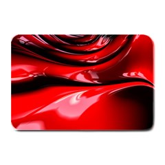 Red Fractal Mathematics Abstract Plate Mats
