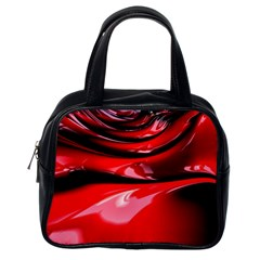 Red Fractal Mathematics Abstract Classic Handbags (one Side)