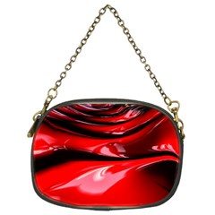 Red Fractal Mathematics Abstract Chain Purses (two Sides)