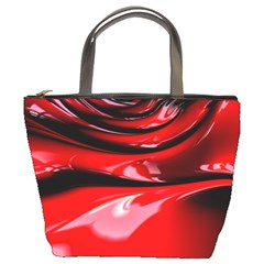 Red Fractal Mathematics Abstract Bucket Bags
