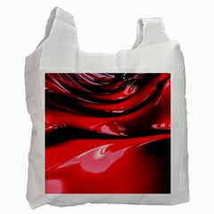 Red Fractal Mathematics Abstract Recycle Bag (one Side)