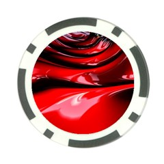 Red Fractal Mathematics Abstract Poker Chip Card Guard (10 Pack)
