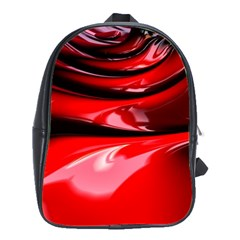 Red Fractal Mathematics Abstract School Bags(large)