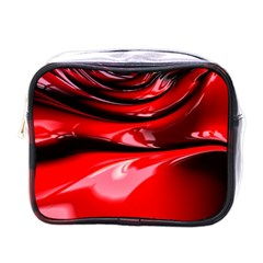 Red Fractal Mathematics Abstract Mini Toiletries Bags