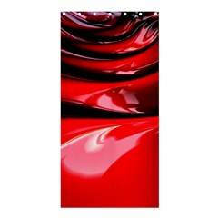 Red Fractal Mathematics Abstract Shower Curtain 36  X 72  (stall)