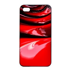 Red Fractal Mathematics Abstract Apple Iphone 4/4s Seamless Case (black)