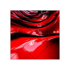Red Fractal Mathematics Abstract Acrylic Tangram Puzzle (4  X 4 )