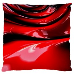 Red Fractal Mathematics Abstract Large Cushion Case (two Sides)