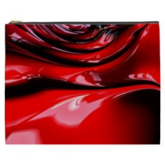 Red Fractal Mathematics Abstract Cosmetic Bag (xxxl)