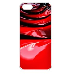 Red Fractal Mathematics Abstract Apple Iphone 5 Seamless Case (white)