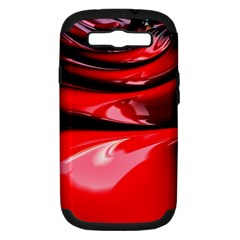 Red Fractal Mathematics Abstract Samsung Galaxy S Iii Hardshell Case (pc+silicone)