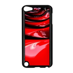 Red Fractal Mathematics Abstract Apple Ipod Touch 5 Case (black)