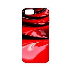 Red Fractal Mathematics Abstract Apple Iphone 5 Classic Hardshell Case (pc+silicone)