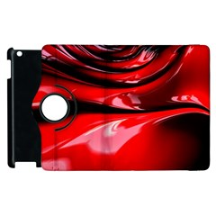 Red Fractal Mathematics Abstract Apple Ipad 2 Flip 360 Case