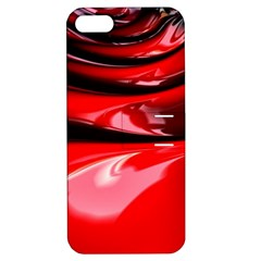 Red Fractal Mathematics Abstract Apple Iphone 5 Hardshell Case With Stand