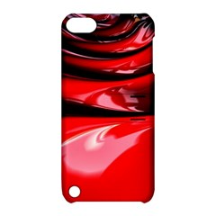 Red Fractal Mathematics Abstract Apple Ipod Touch 5 Hardshell Case With Stand