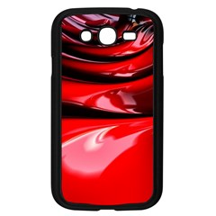 Red Fractal Mathematics Abstract Samsung Galaxy Grand Duos I9082 Case (black)