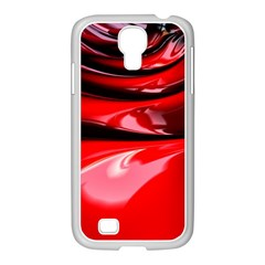 Red Fractal Mathematics Abstract Samsung Galaxy S4 I9500/ I9505 Case (white)