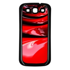 Red Fractal Mathematics Abstract Samsung Galaxy S3 Back Case (black)