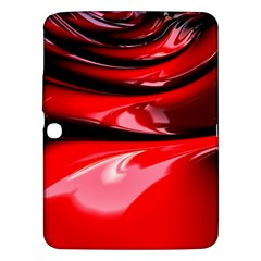 Red Fractal Mathematics Abstract Samsung Galaxy Tab 3 (10 1 ) P5200 Hardshell Case